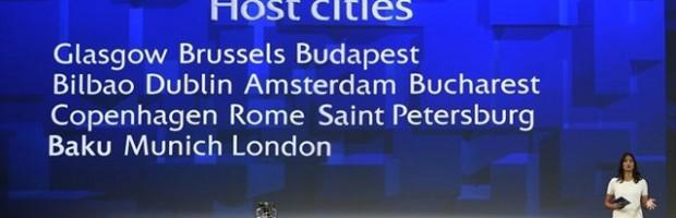 Ya se conocen las trece sedes de la Eurocopa 2020, con Bilbao entre ellas