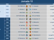 Liga Española 2014-2015 2ª División: horarios y retransmisiones de la Jornada 10