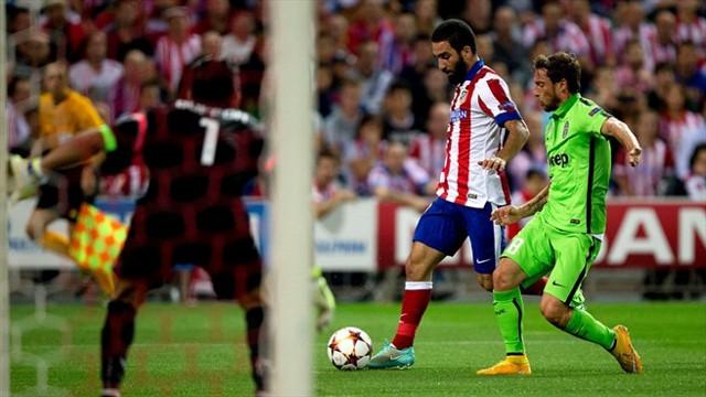 Arda Turan dio la victoria al Atlético ante la Juve