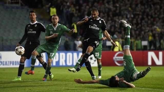 Benzema libró al Real Madrid del pinchazo ante el Ludogorets