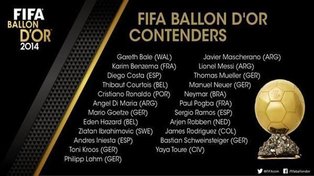 Lista  de candidatos al Balón de Oro 2014