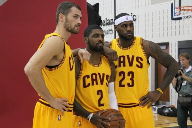 Love, Irving y James, el Big Three de los Cavs