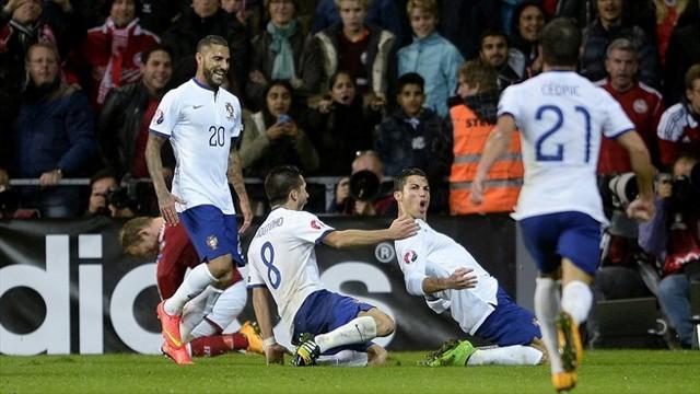 Cristiano dio la victoria a Portugal en el descuento