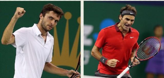 Federer y Simon a la final de Shanghai