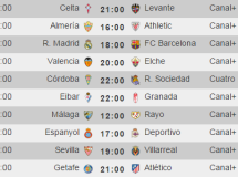 Liga Española 2014-2015 1ª División: horarios y retransmisiones de la Jornada 9 con Real Madrid-F.C. Barcelona