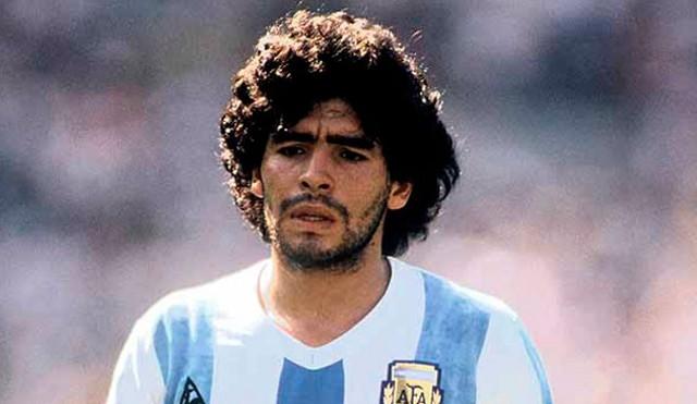 Maradona con la selección de Argentina