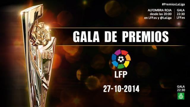 La gala de los Premios LFP se celebrará este lunes 27 de octubre