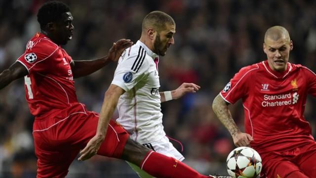 Benzema marcó el gol de la victoria ante el Liverpool