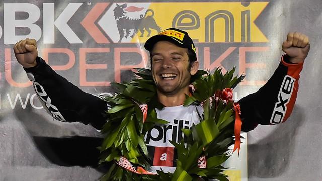 El francés Sylvain Guintoli ganó el Mundial de Superbikes de 2014