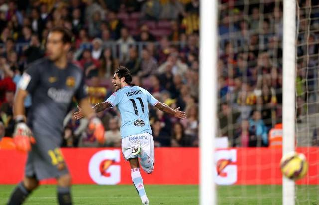 Larrivey es el primer jugador en marcar en el Camp Nou esta temporada