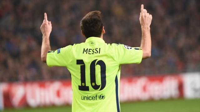 Messi iguala el récord de Raúl
