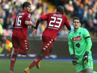 Nápoles-Cagliari empate a 3