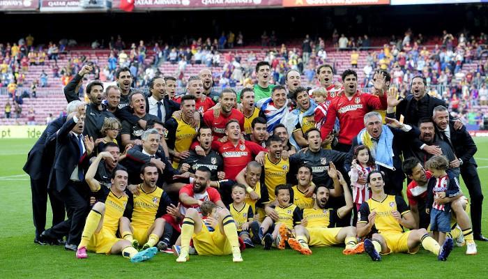 El Atlético de Madrid conquistó la liga en el Camp Nou