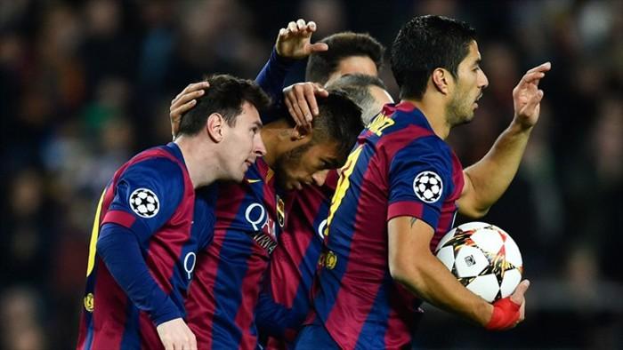 Messi, Neymar y Suárez, el tridente del Barcelona