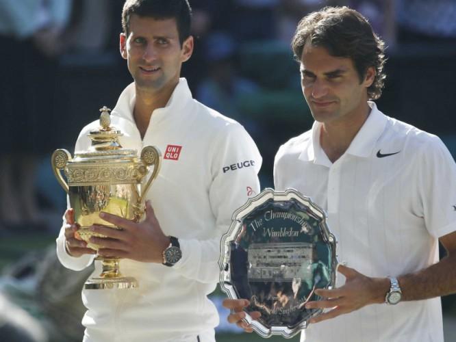 Djokovic y Federer en Wimbledon