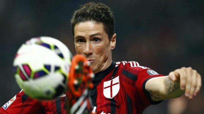 Fernando Torres en su etapa en el Milán