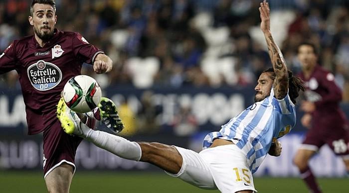 El Málaga eliminó al Depor en la Copa del Rey