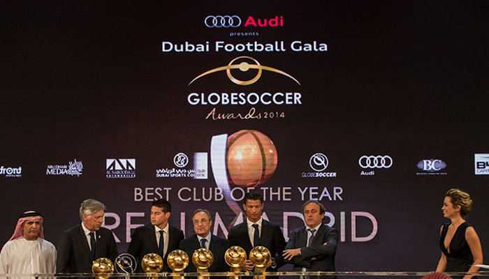 El Real Madrid arrasa en los Premios Globe Soccer de 2014