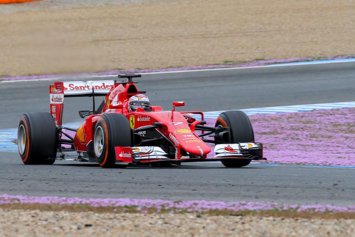 Ferrari con Kimi Raikkonen