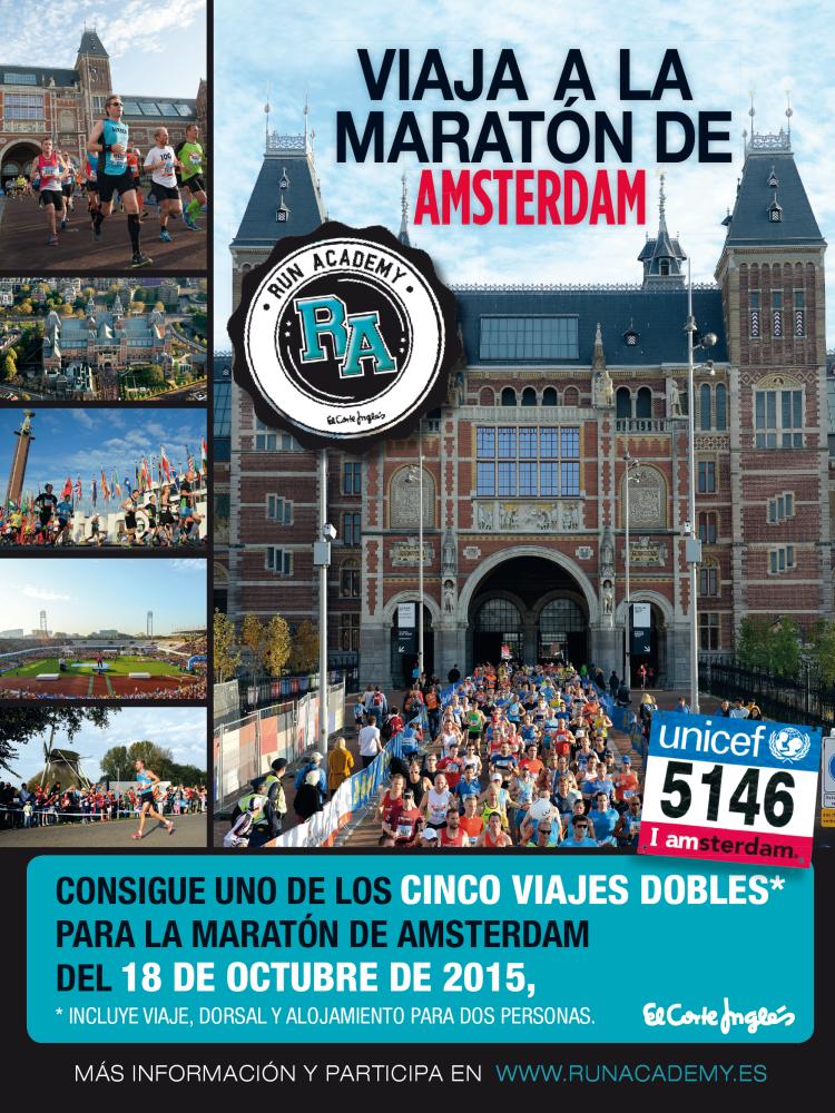 Corre la maratón de Amsterdam con El Corte Inglés