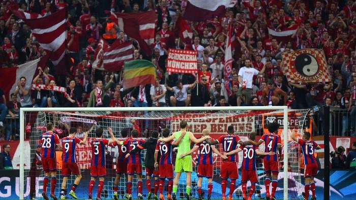 El Bayern celebra su clasificación a semifinales de la Champions