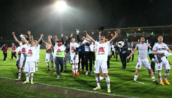 Fiesta del ascenso a la Serie A del Carpi