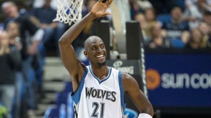 Kevin Garnett en su regreso a los Timberwolves