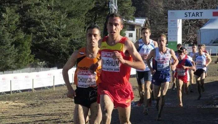 Mohamed Marhoum durante el último Europeo de cross