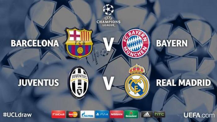Barça - Bayern y Madrid - Juve en las semifinales de la Liga de Campeones