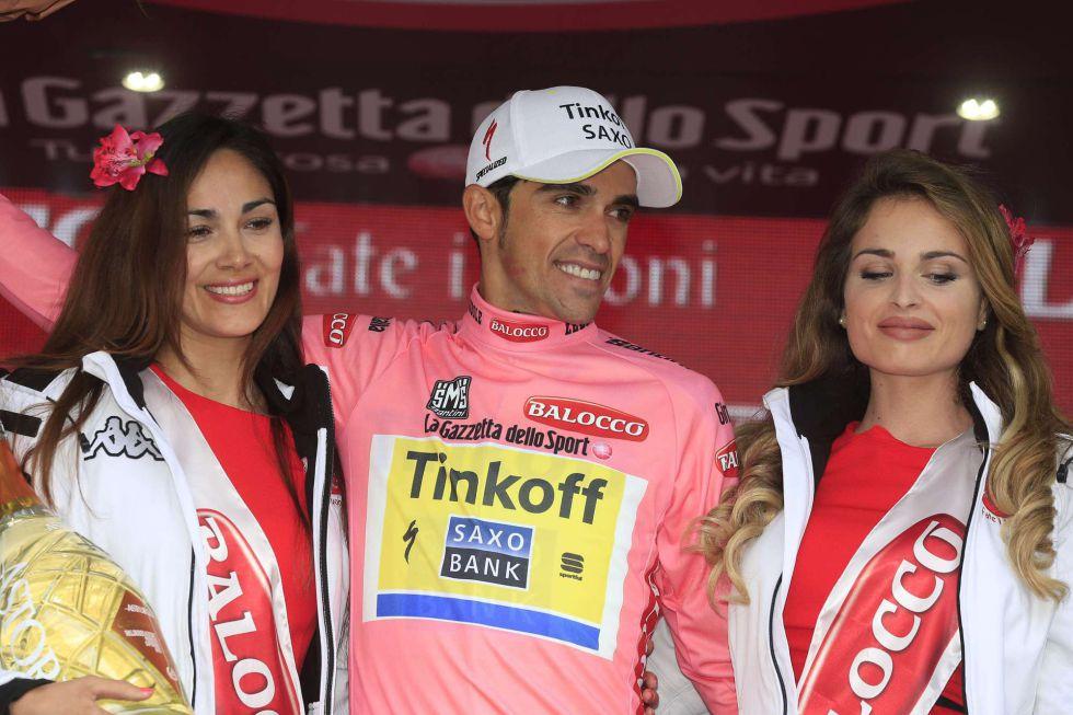 Giro de Italia 2015:  Kiryenka gana la crono y Contador recupera la maglia rosa