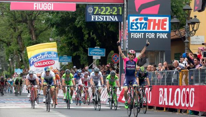 Ulissi ganó la séptima etapa del Giro de Italia