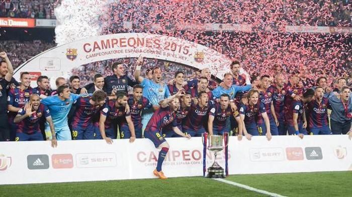 El Barcelona celebra un nuevo título de Copa del Rey