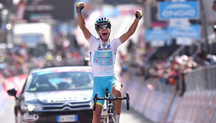 Fabio Aru se impuso en la meta de Cervinia