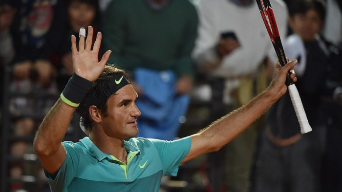Federer a octavos en Roma