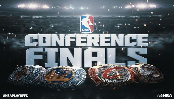 Rockets, Warriors, Cavs y Hawks juegan las finales de Conferencia