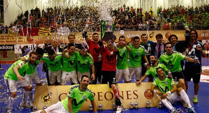 El Inter Movistar se proclamó campeón de la Copa del Rey de 2015