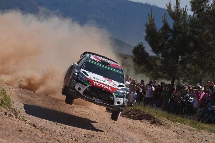 Kris Meeke con el Citröen DS3 WRC en Portugal