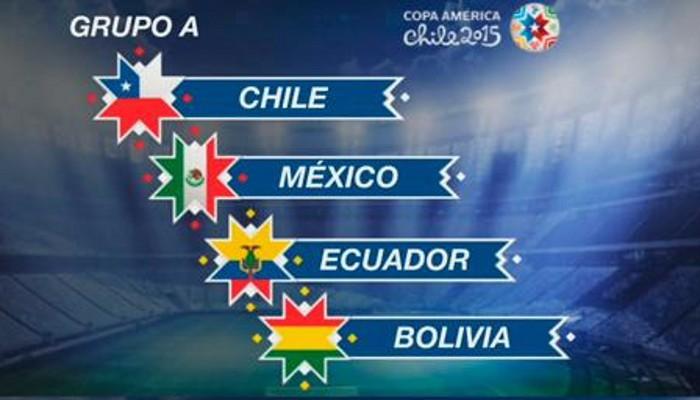 Chile, México, Ecuador y Bolivia forman el Grupo A de la Copa América 2015