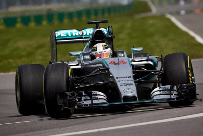 Lewis Hamilton en Canada