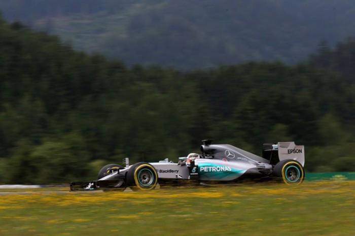 Mercedes en el GP de Austria