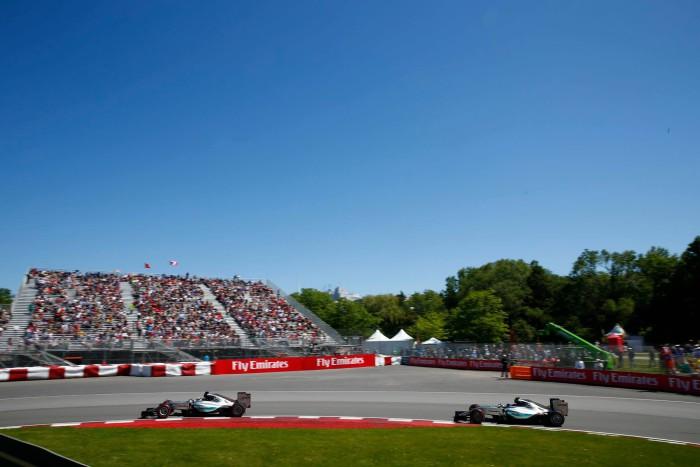 Mercedes en el GP de Canada