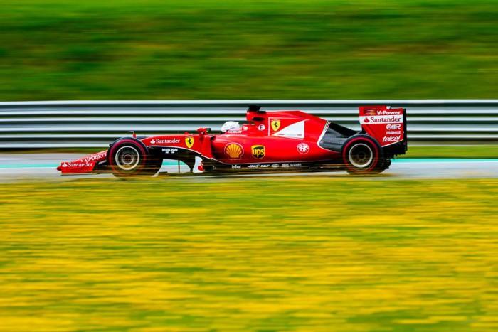 Sebastian Vettel en el GP de Austria