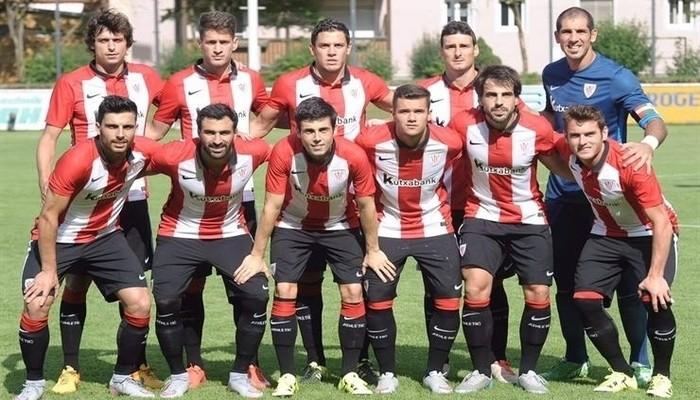 El Athletic de Bilbao en un partido de pretemporada
