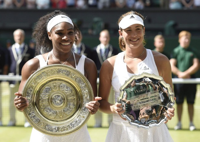 Garbiñe Muguruza y Serena Williams