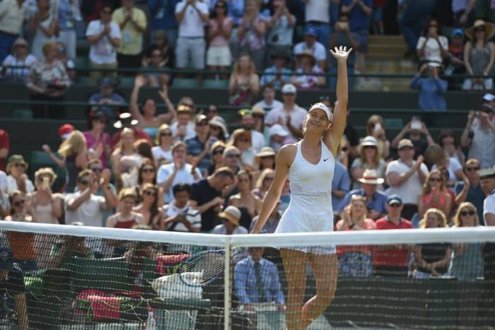 Maria Sharapova en Wimbledon
