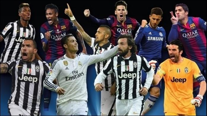 Los diez nominados al premio al Mejor Jugador de la UEFA
