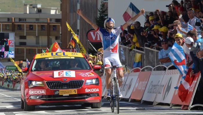 El francés Pinot ganó en el final de Alpe d'Huez