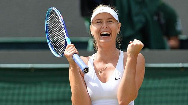 Sharapova a semifinales en Wimbledo