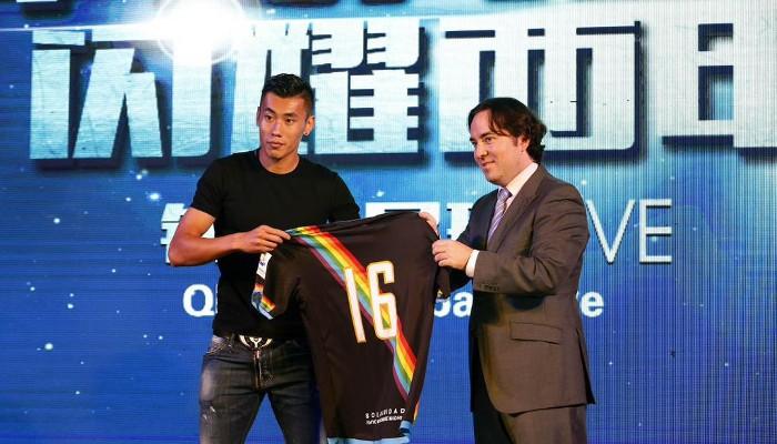 Presentación del Zhang Chengdong, el futbolista chino del Rayo