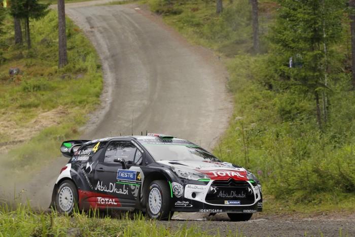 Mads Otsberg en el Rally de Finlandia